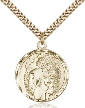 """GF St. Joseph Medal / 24"""" Curb Chain"""