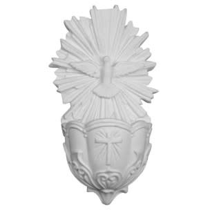 Holy Spirit White Holy Water Font