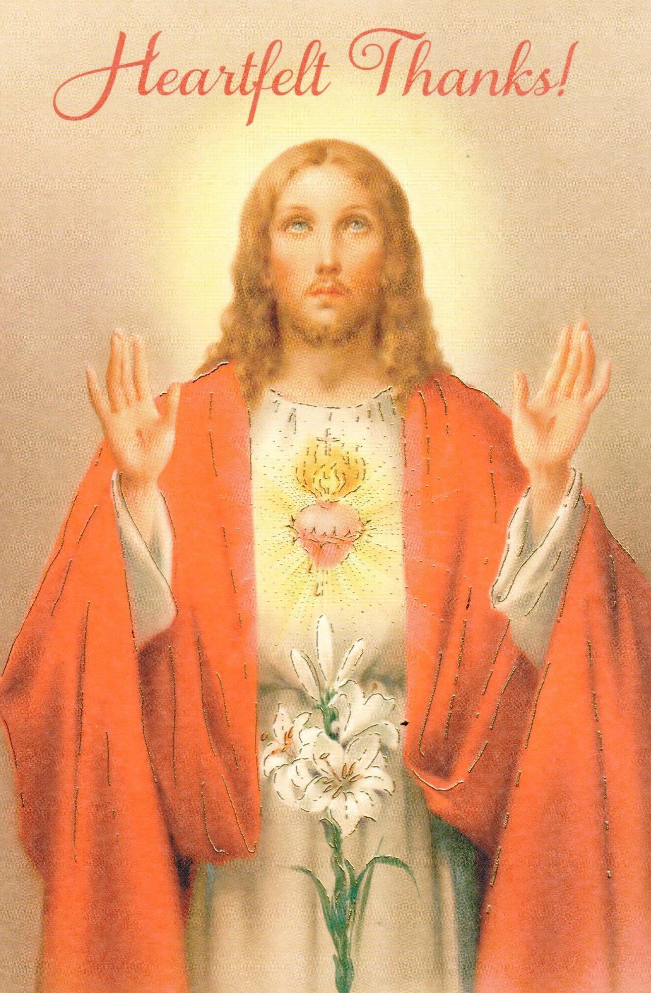 Heartfelt Thanks - Sacred Heart