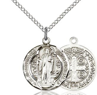 """SS Benedict Medal / SN 24"""" Curb Chain"""