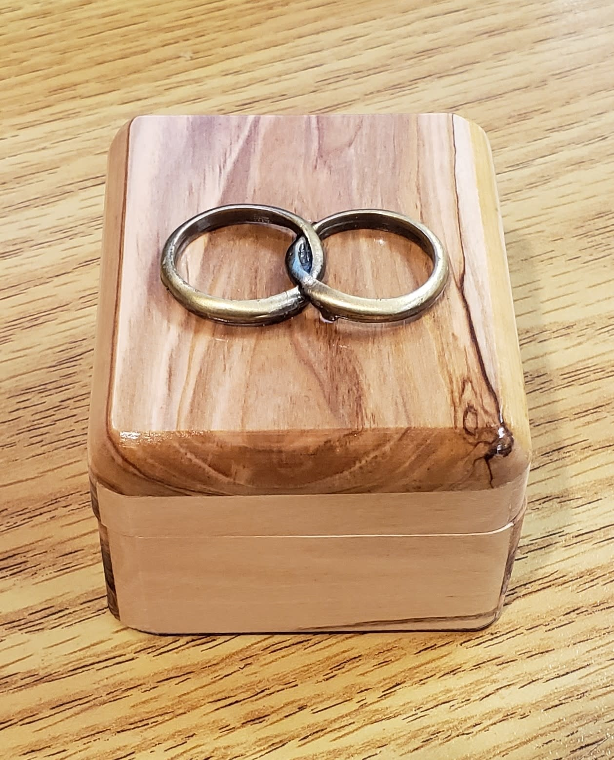 Olive Wood Rosary and Box Set Wedding Rings