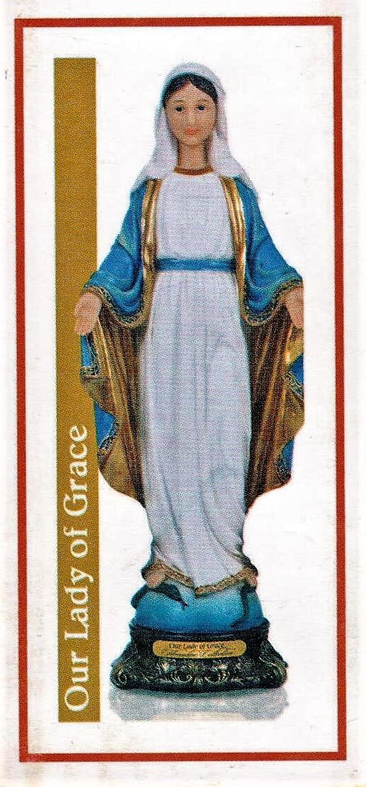"""Our Lady of Grace  - 8"""" Florentine"""