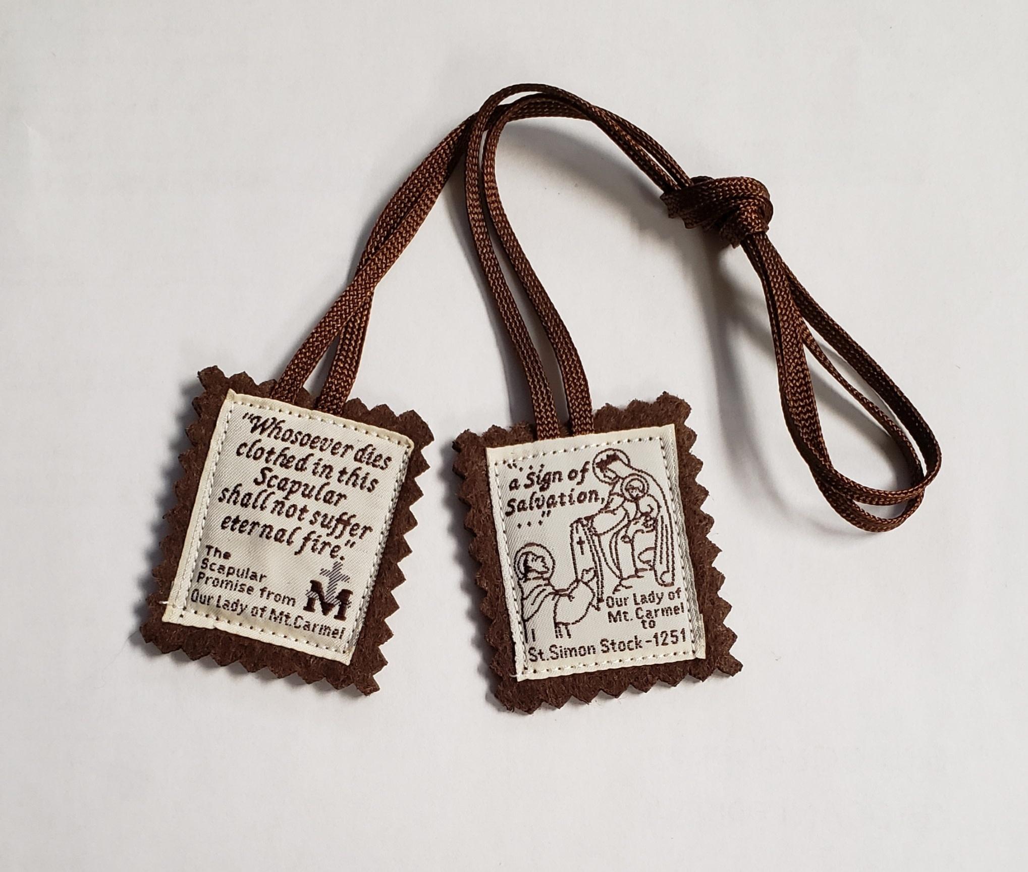 Cloth Scapular (Brown Cord) $2.95