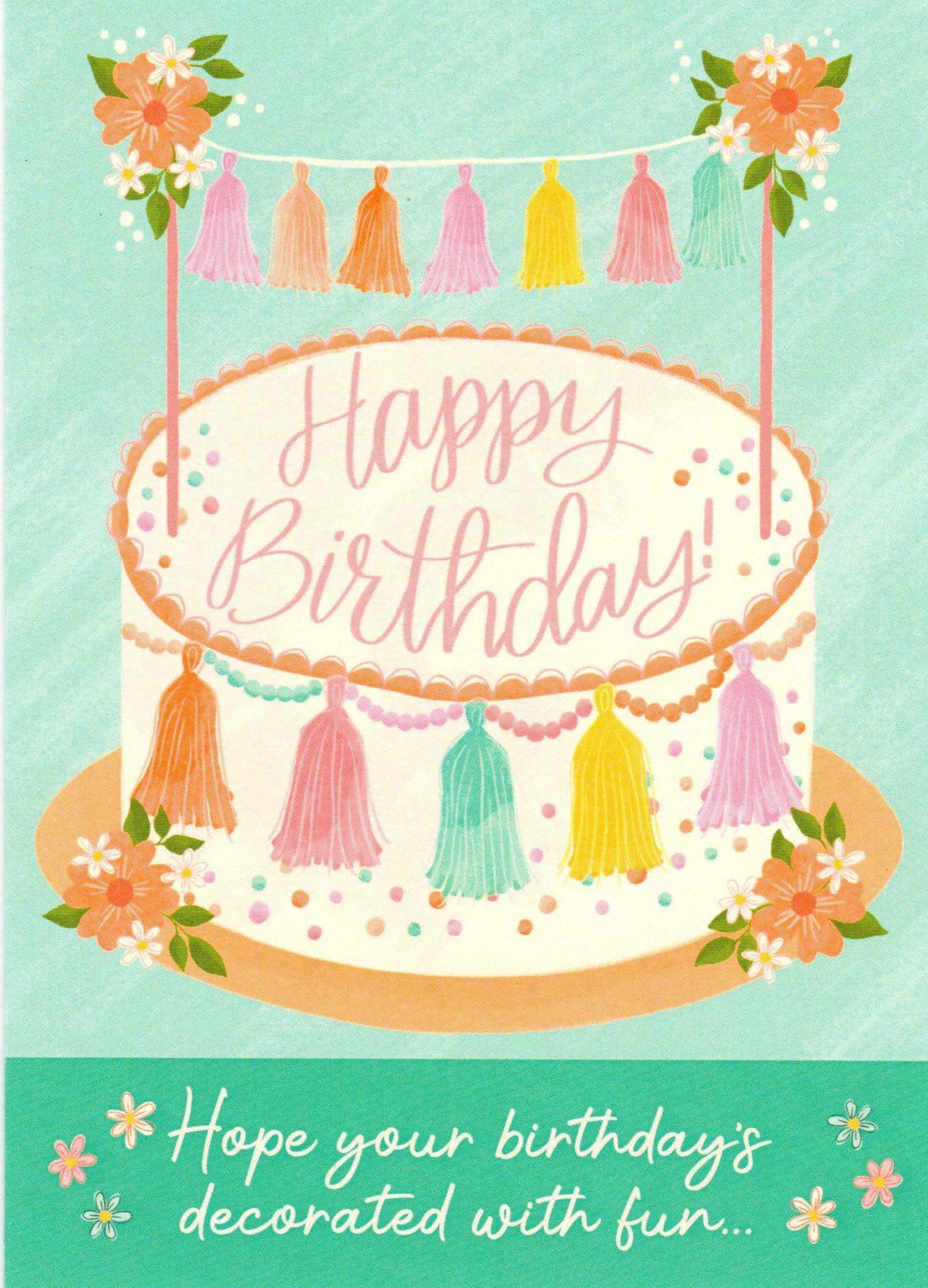 Happy Birthday - Tassel Cake