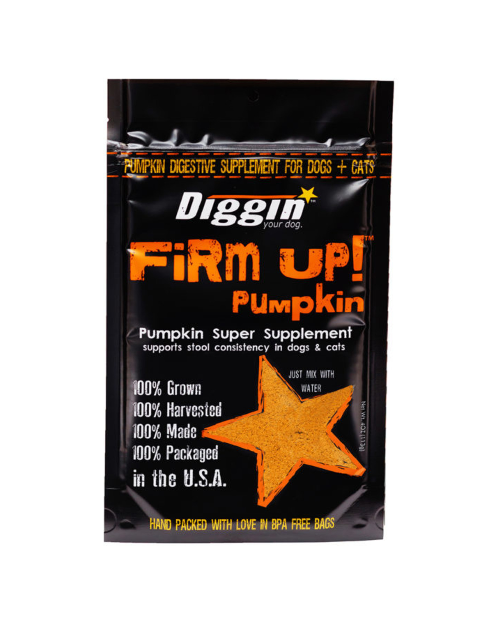 Diggin Your Dog Firm Up Pumpkin 4oz