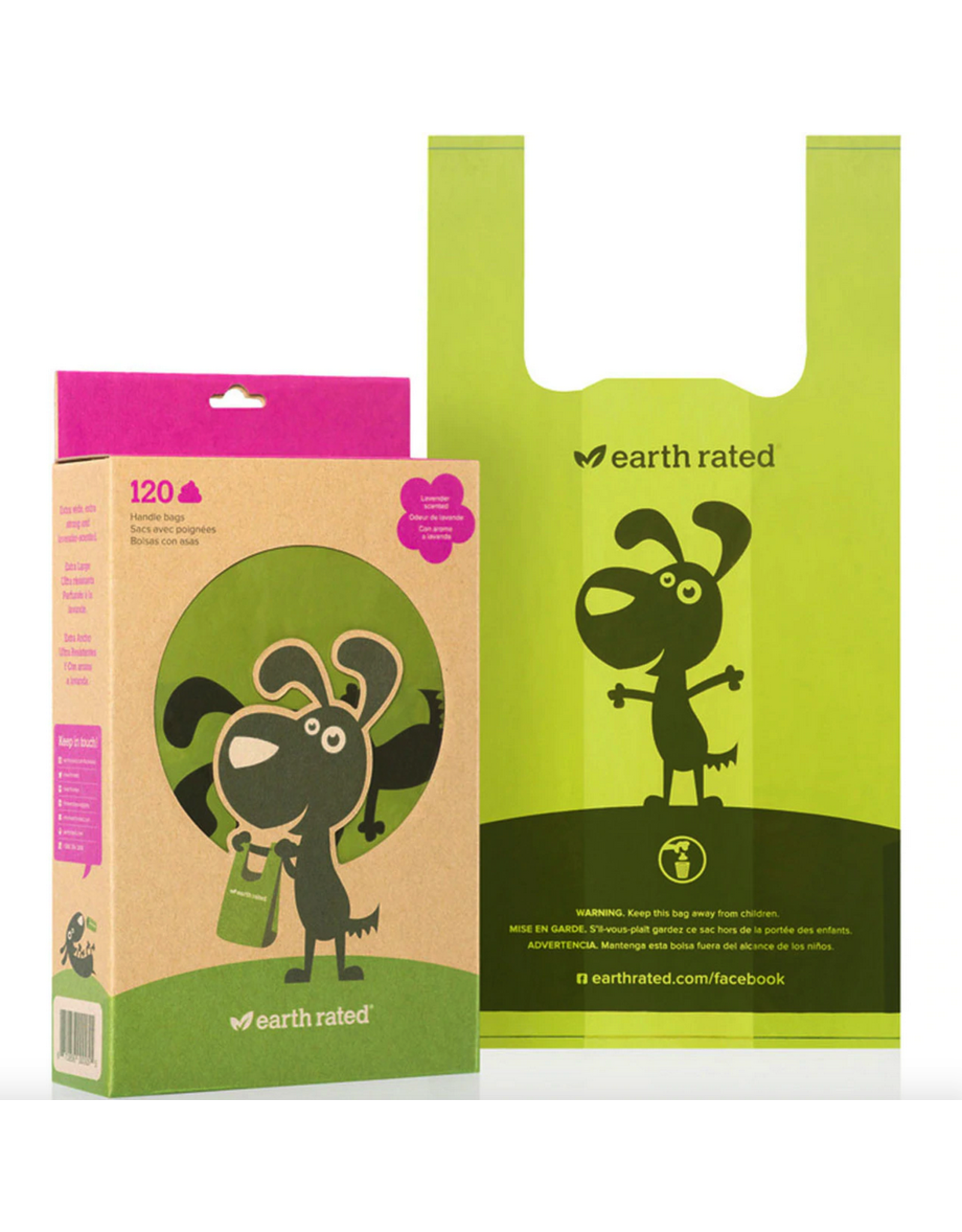 Earth Rated Earth Rated Poop Bags with Handles Lavender 120ct