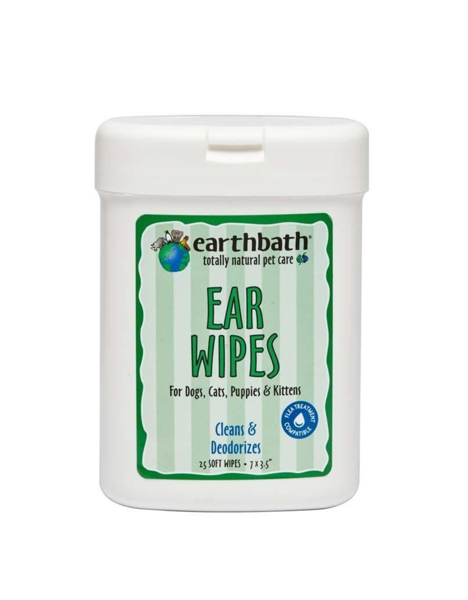 Earthbath Earthbath Ear Wipes 25ct