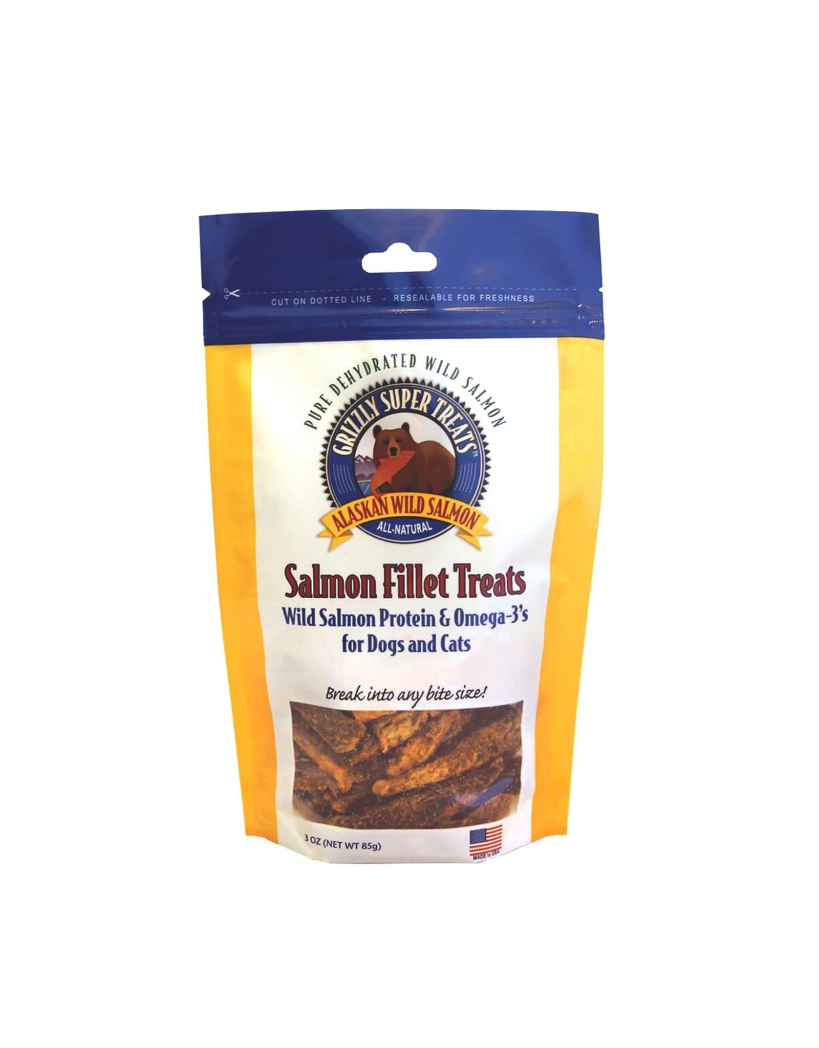Grizzly Pet Products Grizzly Dehydrated Salmon Filet Treat 3oz