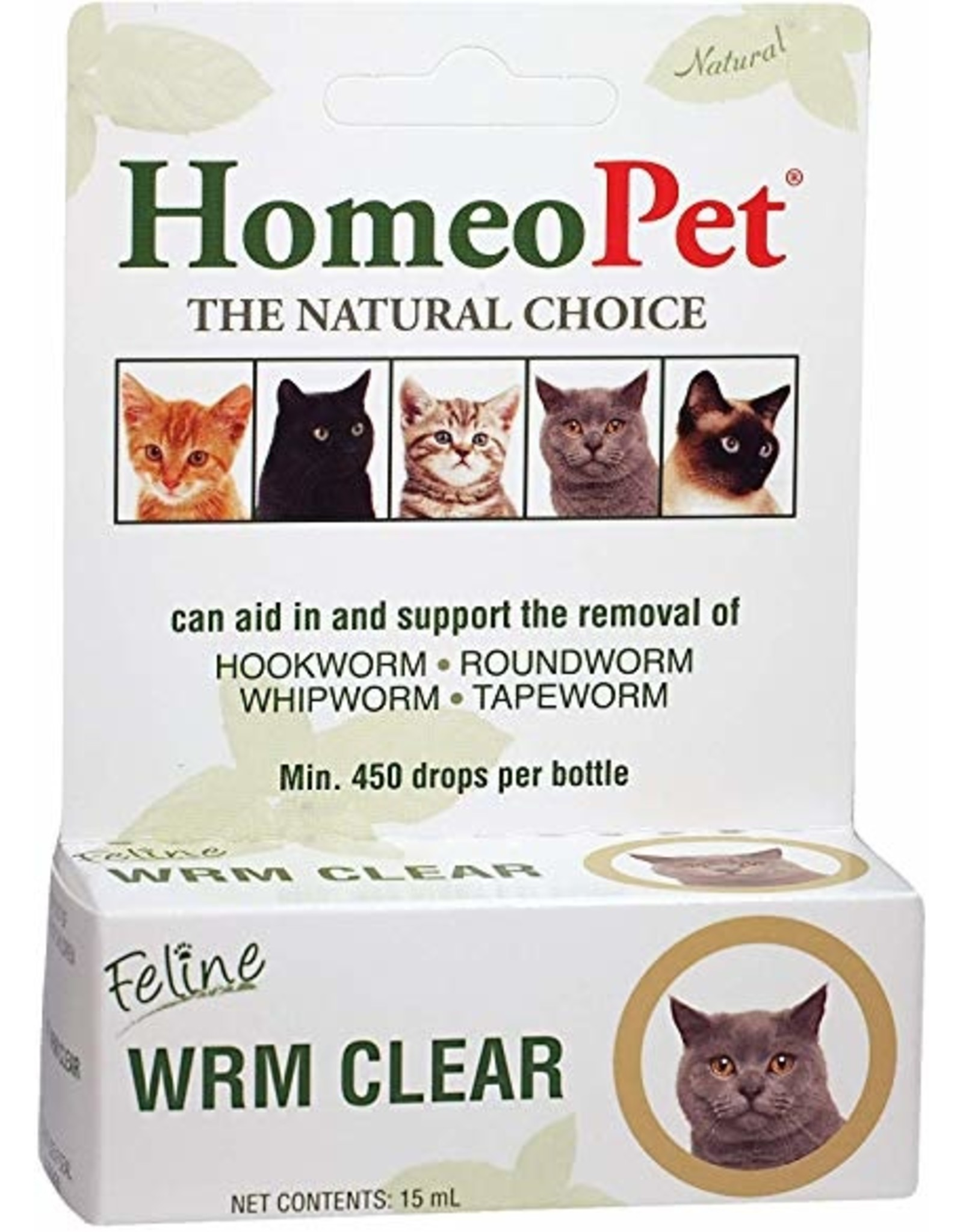 Homeopet Homeopet Cat Wrm Clear 15ml