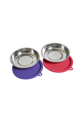 Messy Mutts Messy Cats Bowls with Lids 4pc