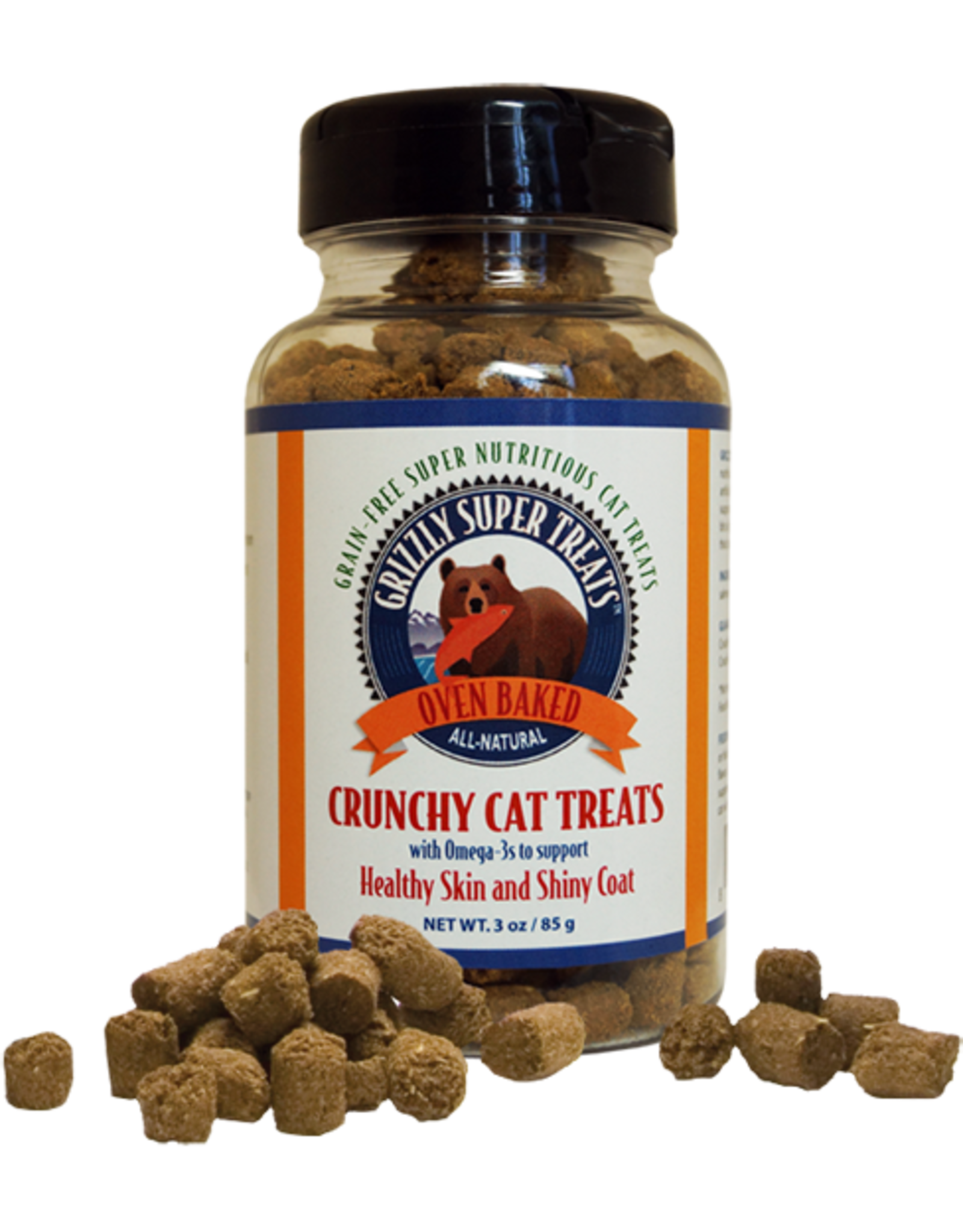 Grizzly Pet Products Grizzly Cat Salmon Crunchy Treat 3oz