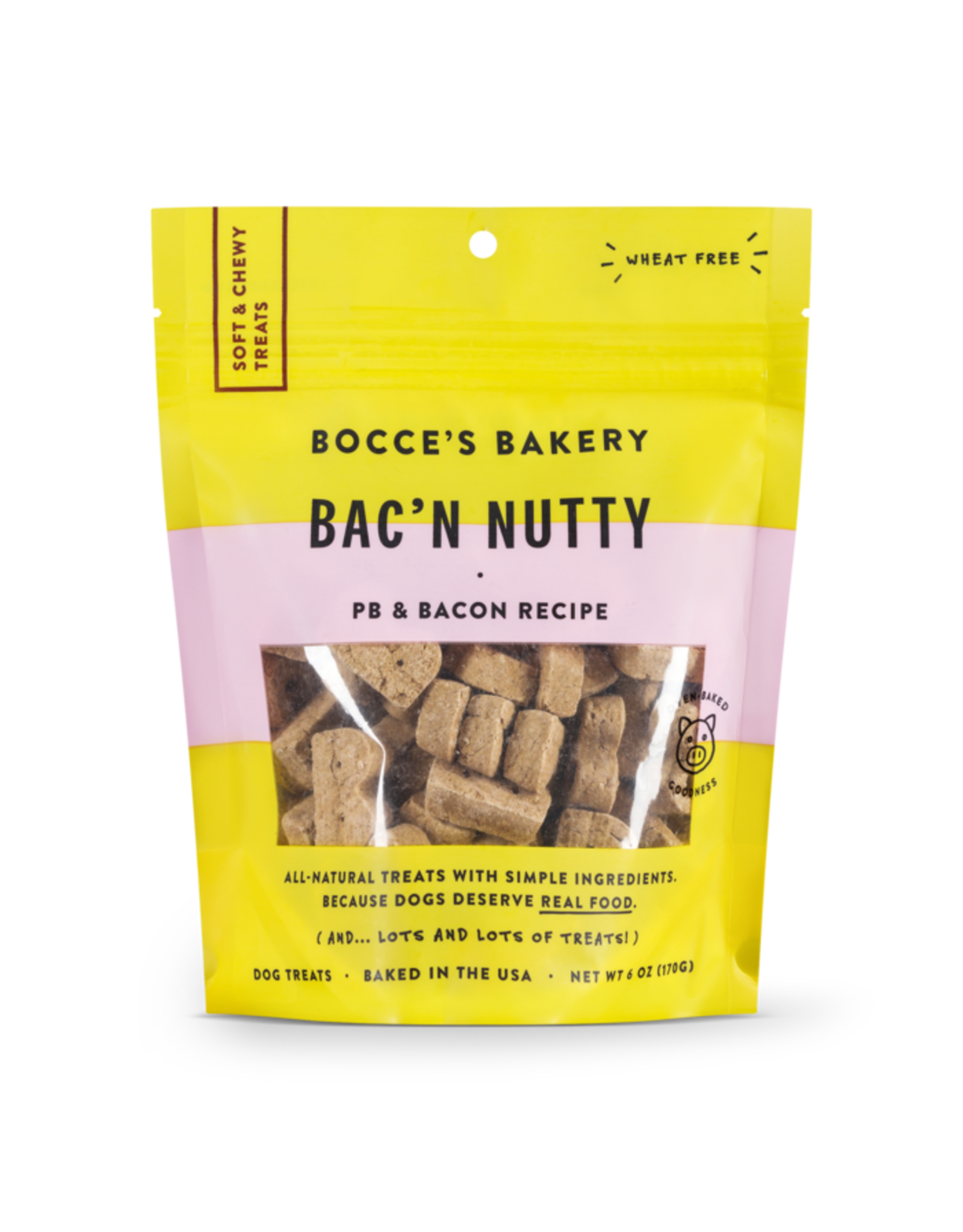 Bocce's Bakery Bocce's Bakery Soft and Chewy Bac N Nutty 6oz