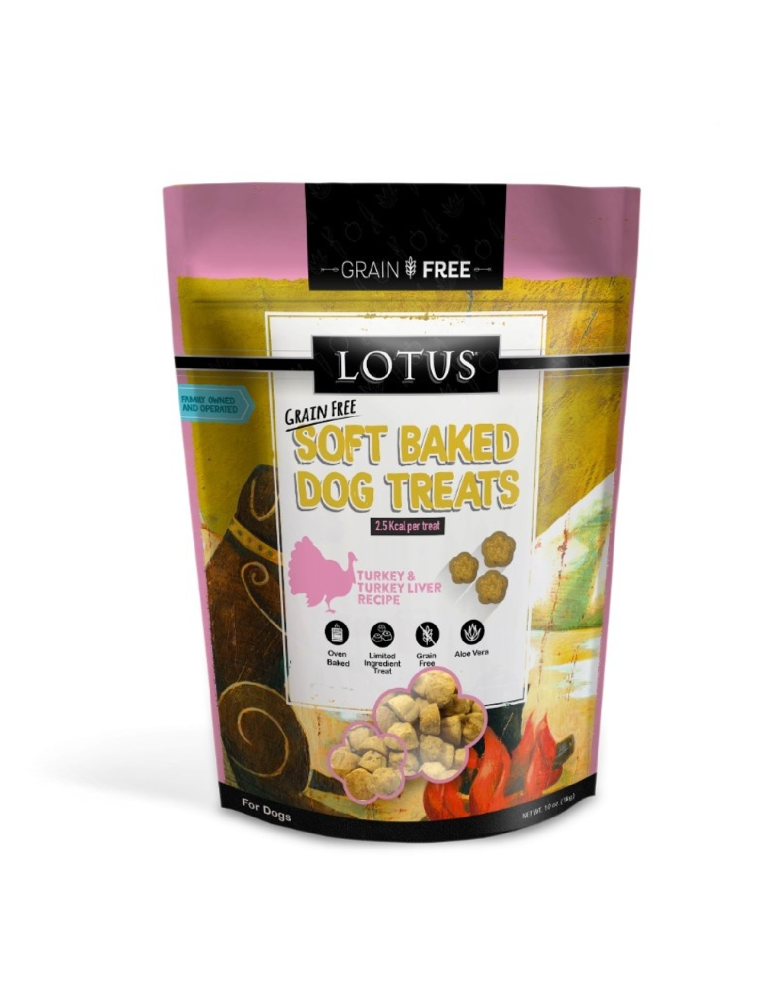 Lotus Pet Food Lotus Dog Soft Baked Turkey Treats 10oz