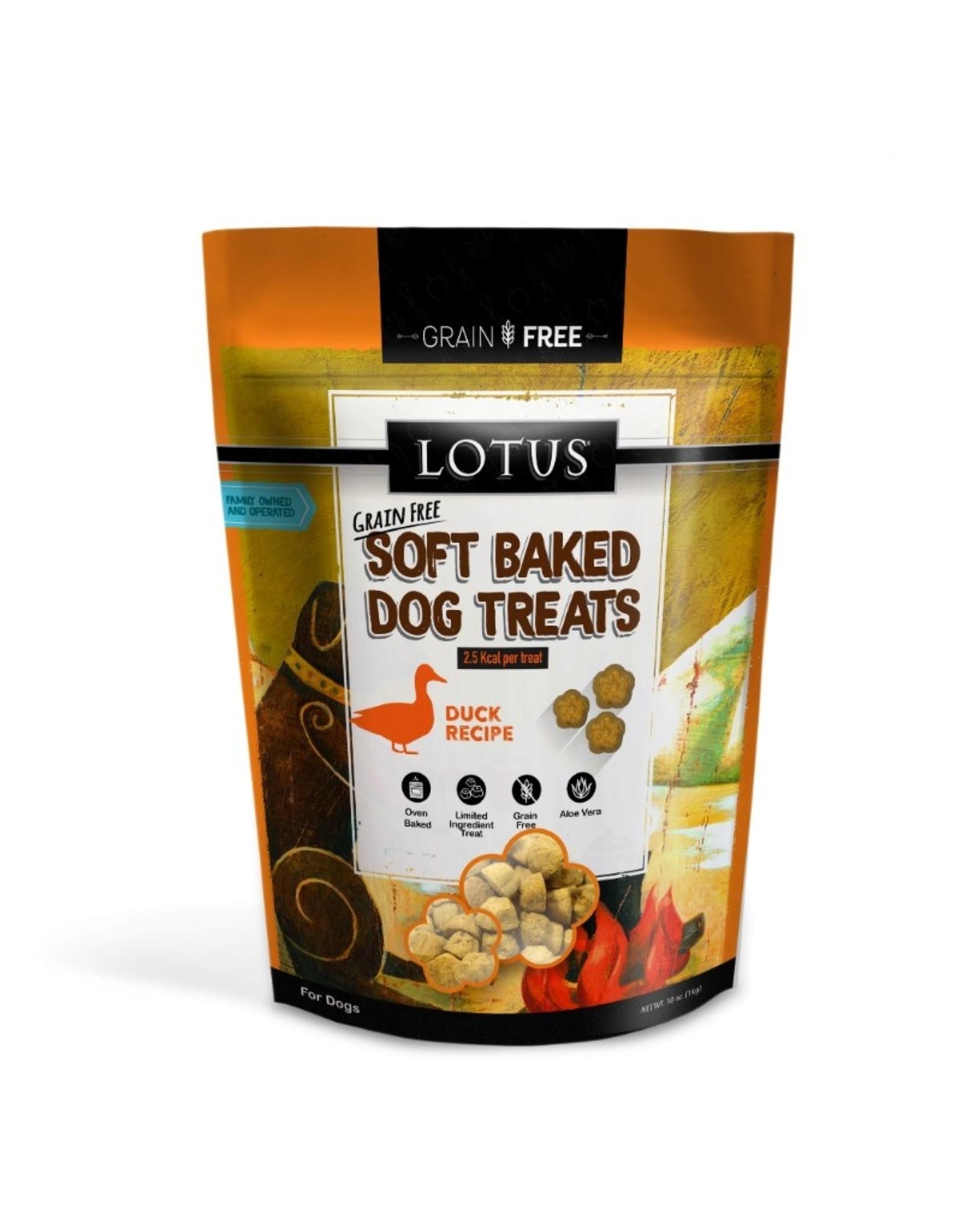 Lotus Pet Food Lotus Dog Soft Baked Duck Treats 10oz