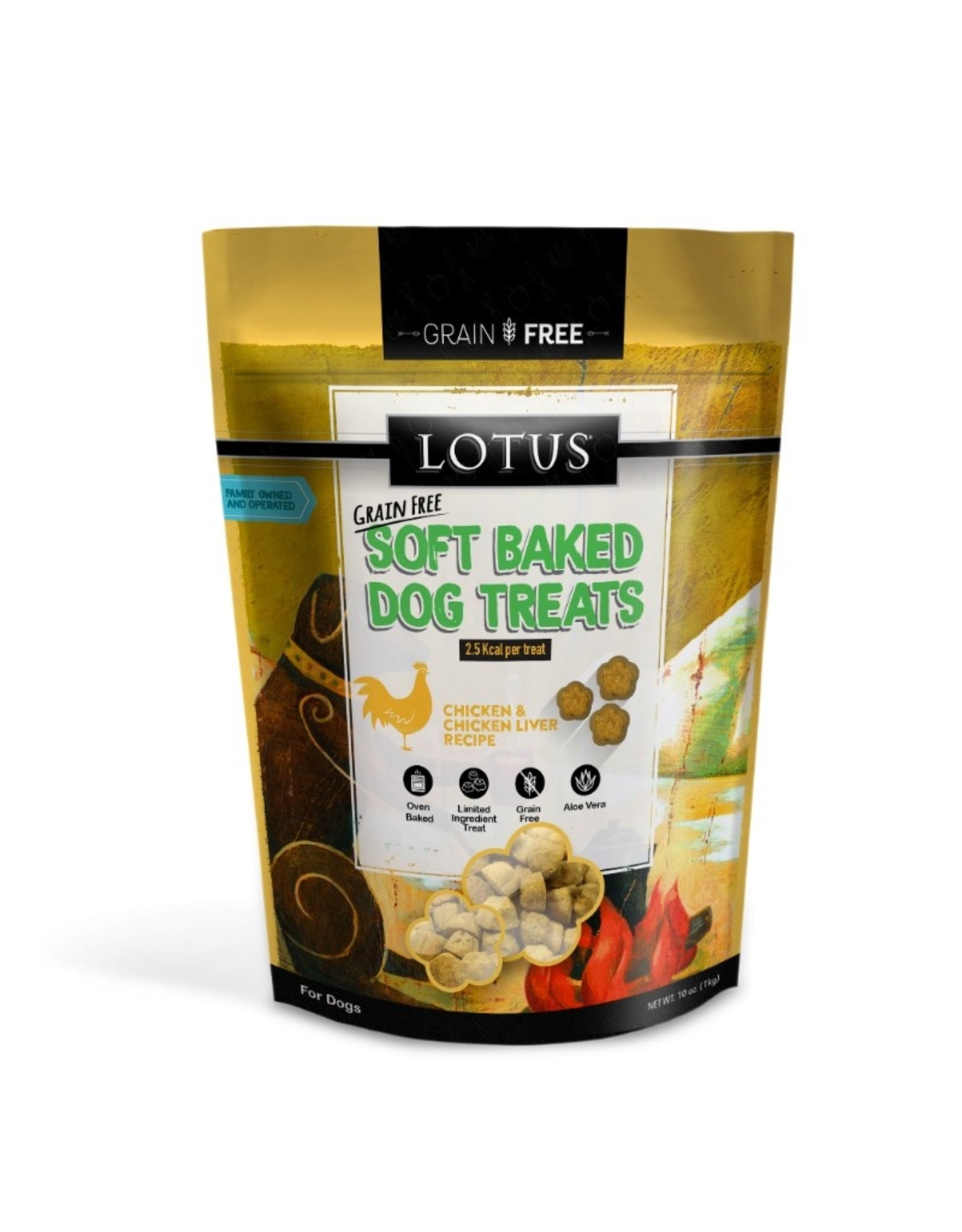 Lotus Pet Food Lotus Dog Soft Baked Chicken Treats 10oz