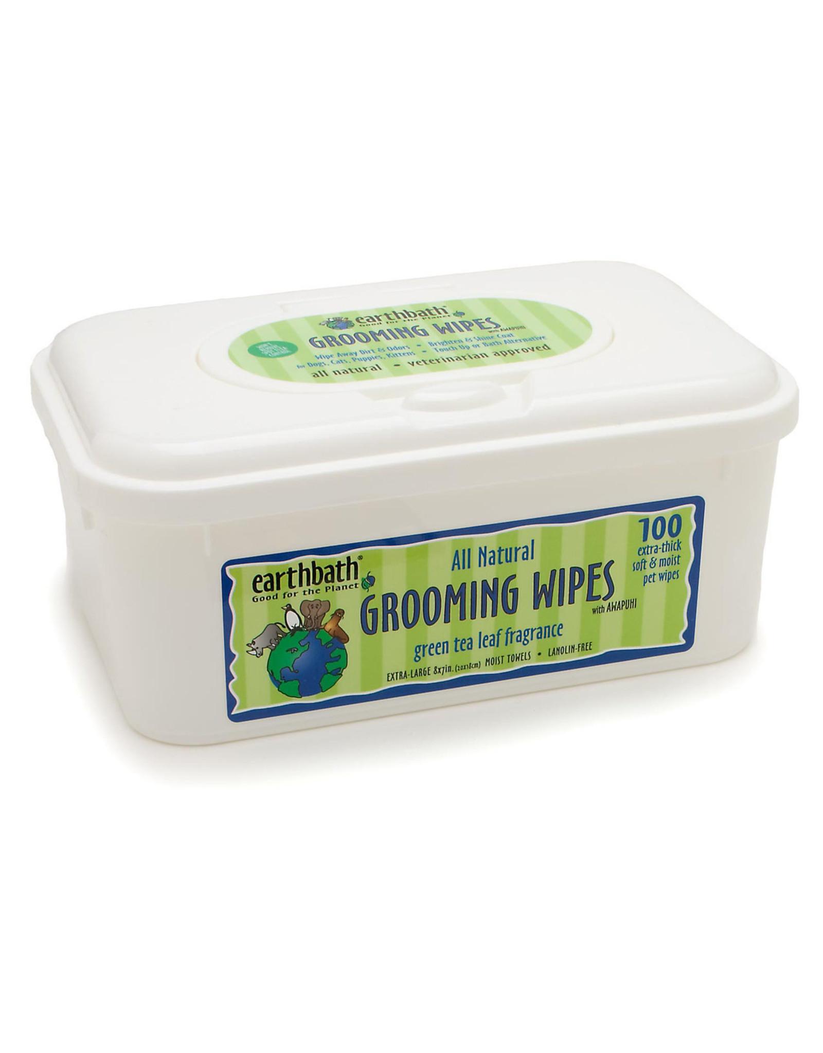 Earthbath Earthbath Grooming Wipes Green Tea Awapuhi 100ct