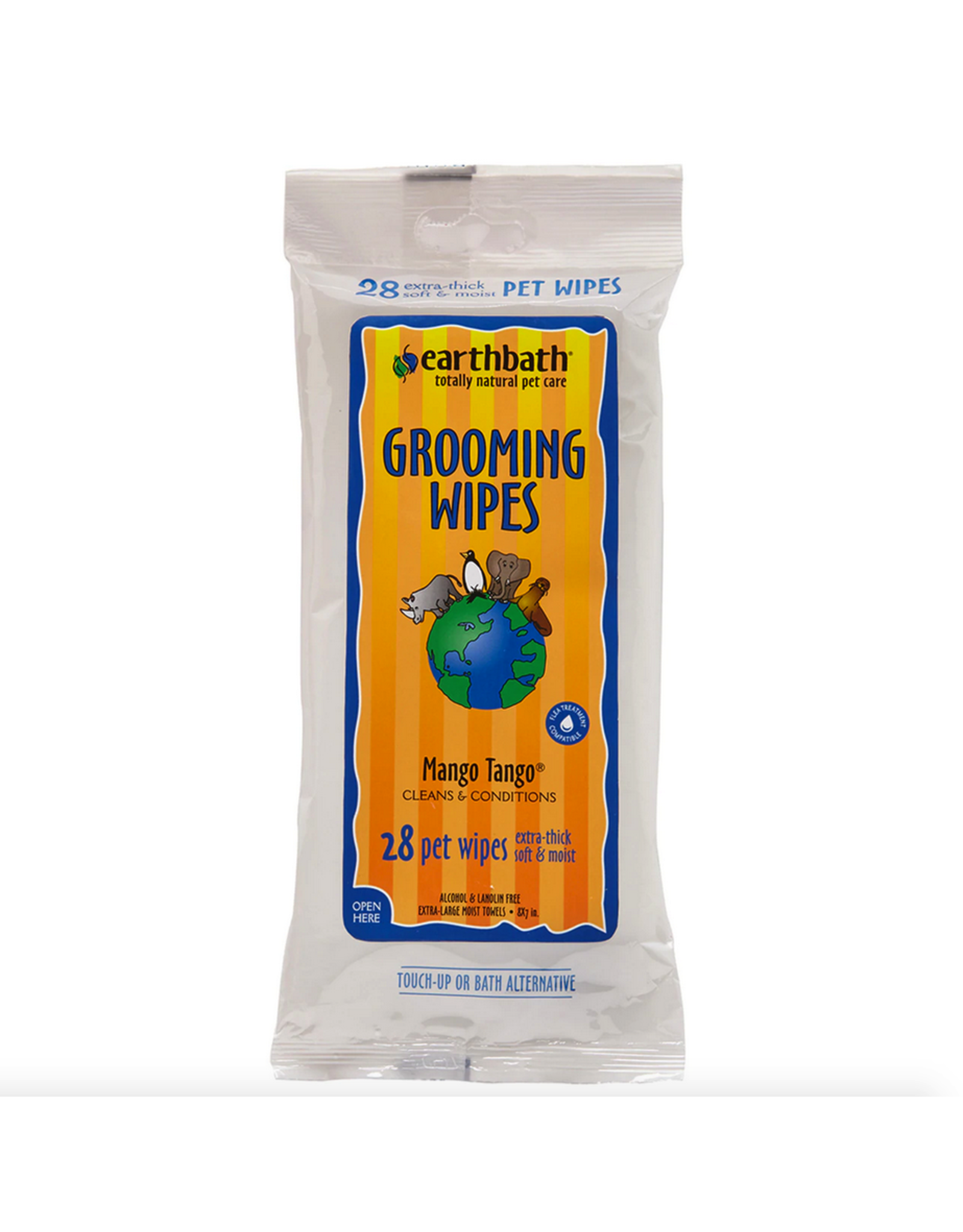 Earthbath Earthbath Grooming Wipes Mango Tango 28ct