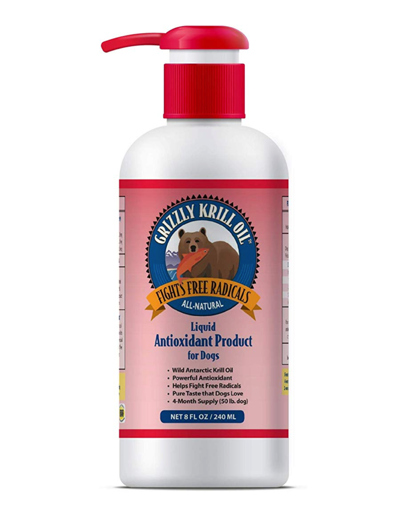 Grizzly Pet Products Grizzly Krill Oil 8oz