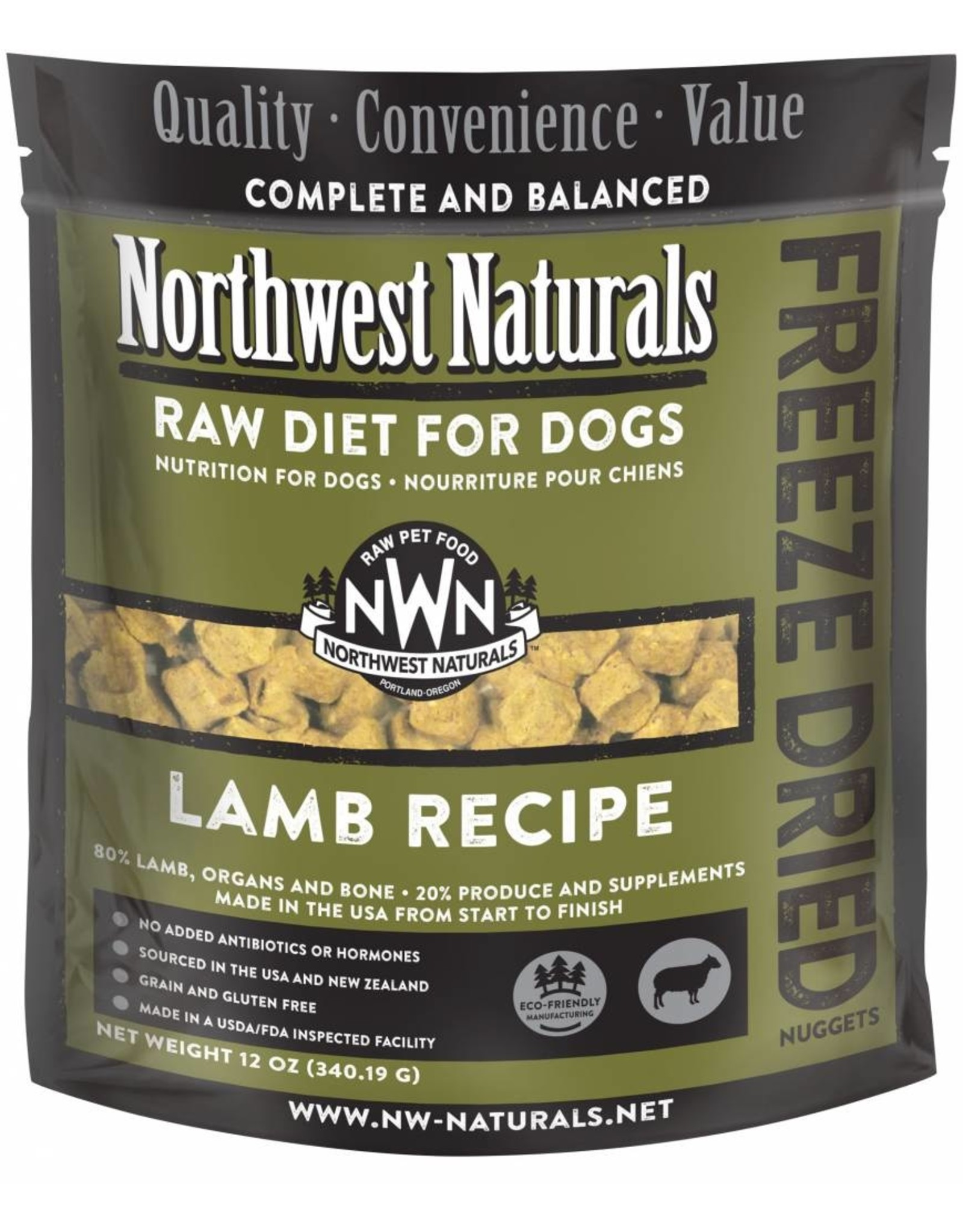 Northwest Naturals Northwest Naturals Dog Freeze Dried Lamb 12oz