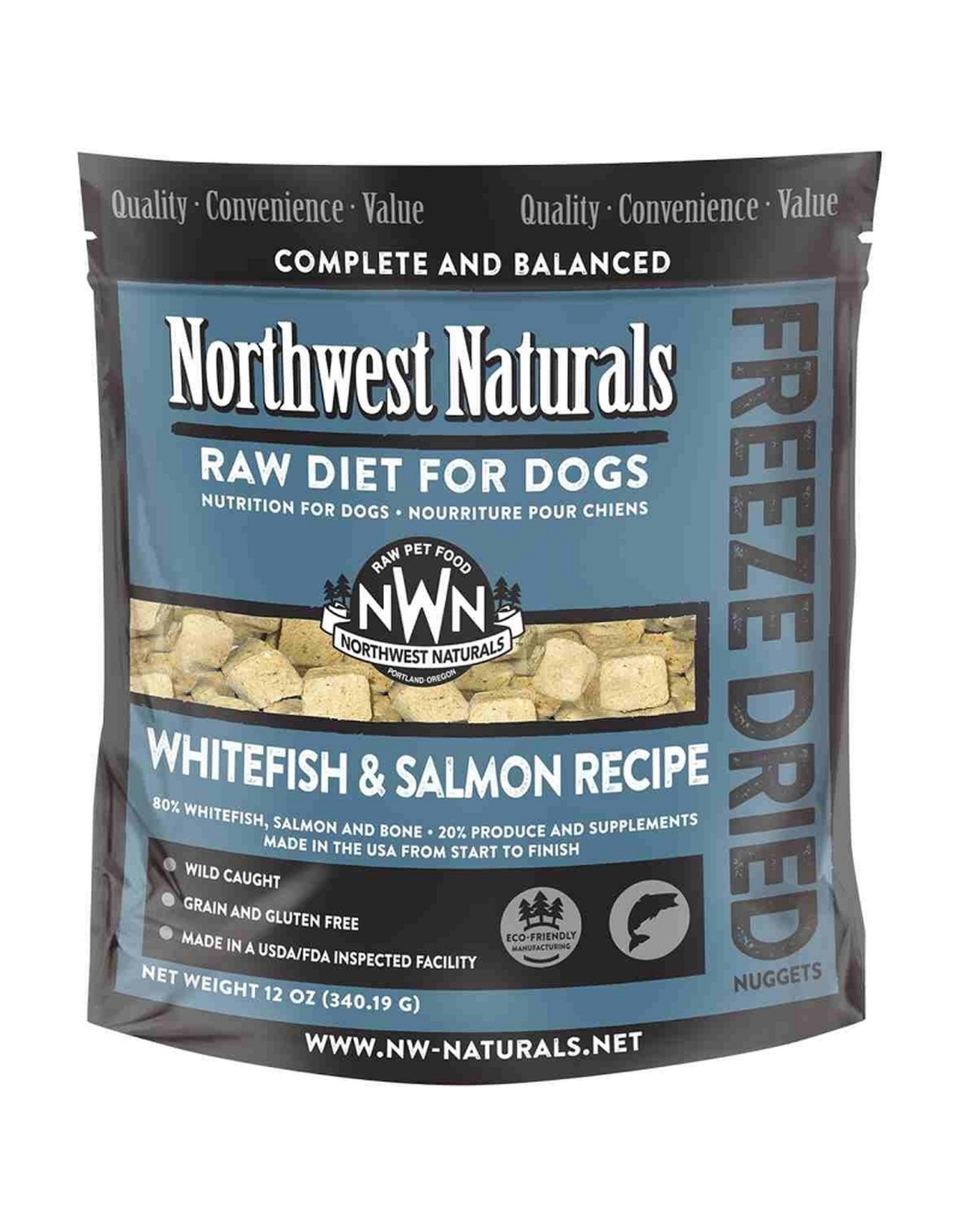 Northwest Naturals Northwest Naturals Dog Freeze Dried Whitefish and Salmon 12oz