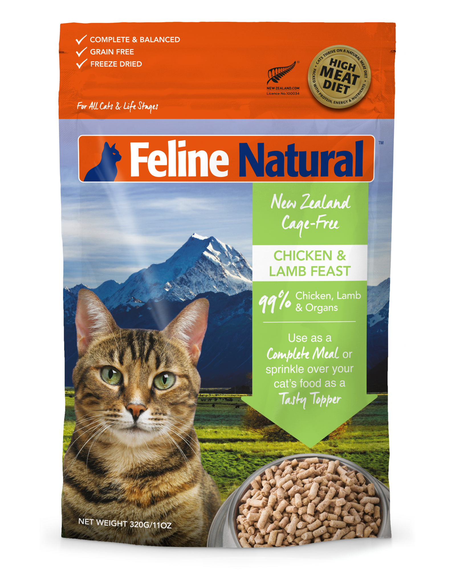 Feline Natural Feline Natural Freeze Dried Chicken and Lamb Feast