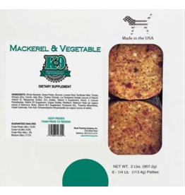 K9 Kraving K9 Kraving Dog Mackerel and Vegetable Patties 2lb