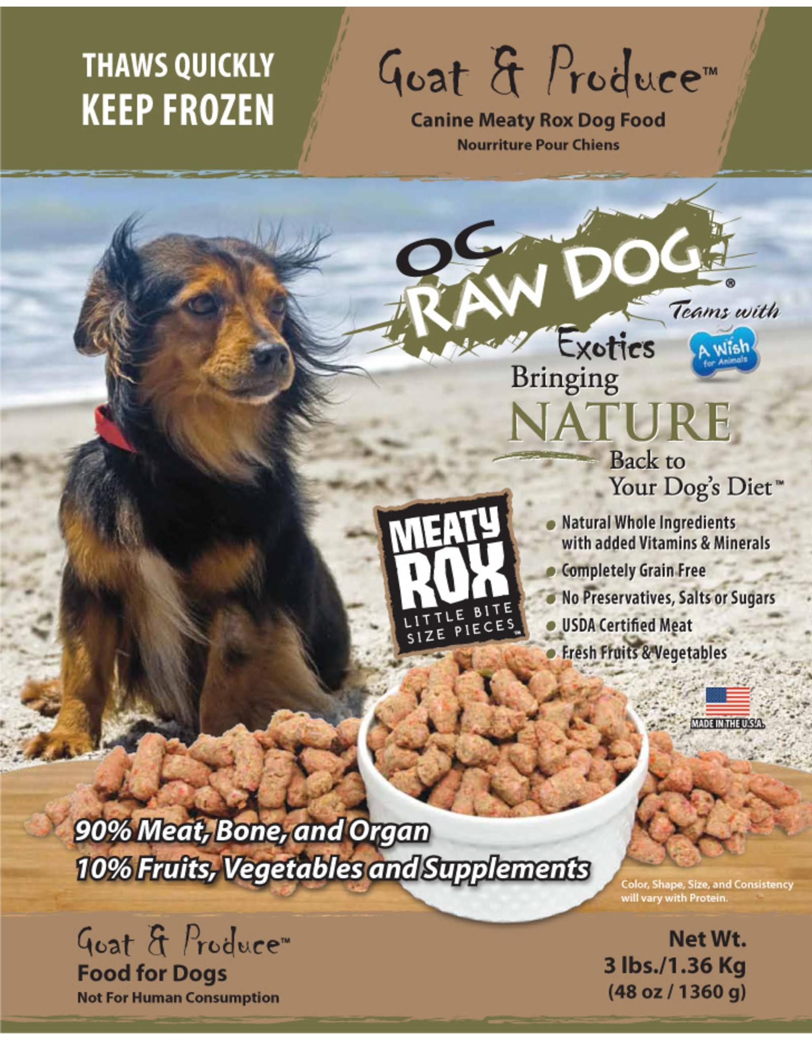 OC Raw Dog OC Raw Dog Goat and Produce Rox 3lb