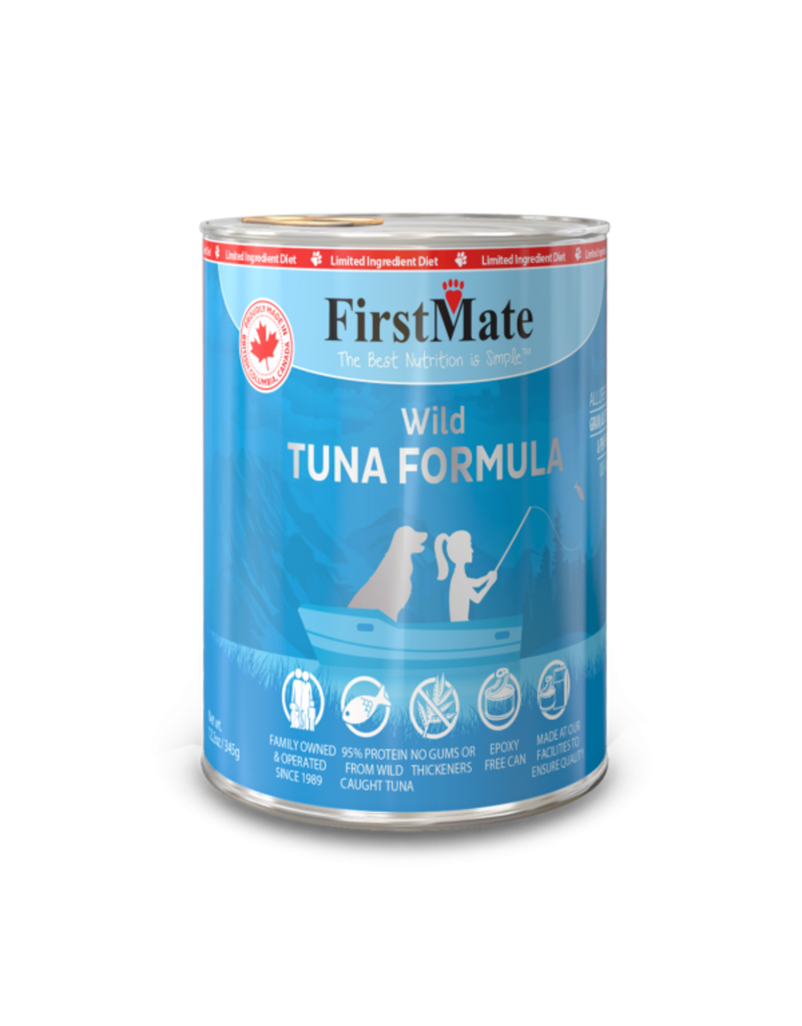 First Mate First Mate Dog LID Tuna 12.2oz