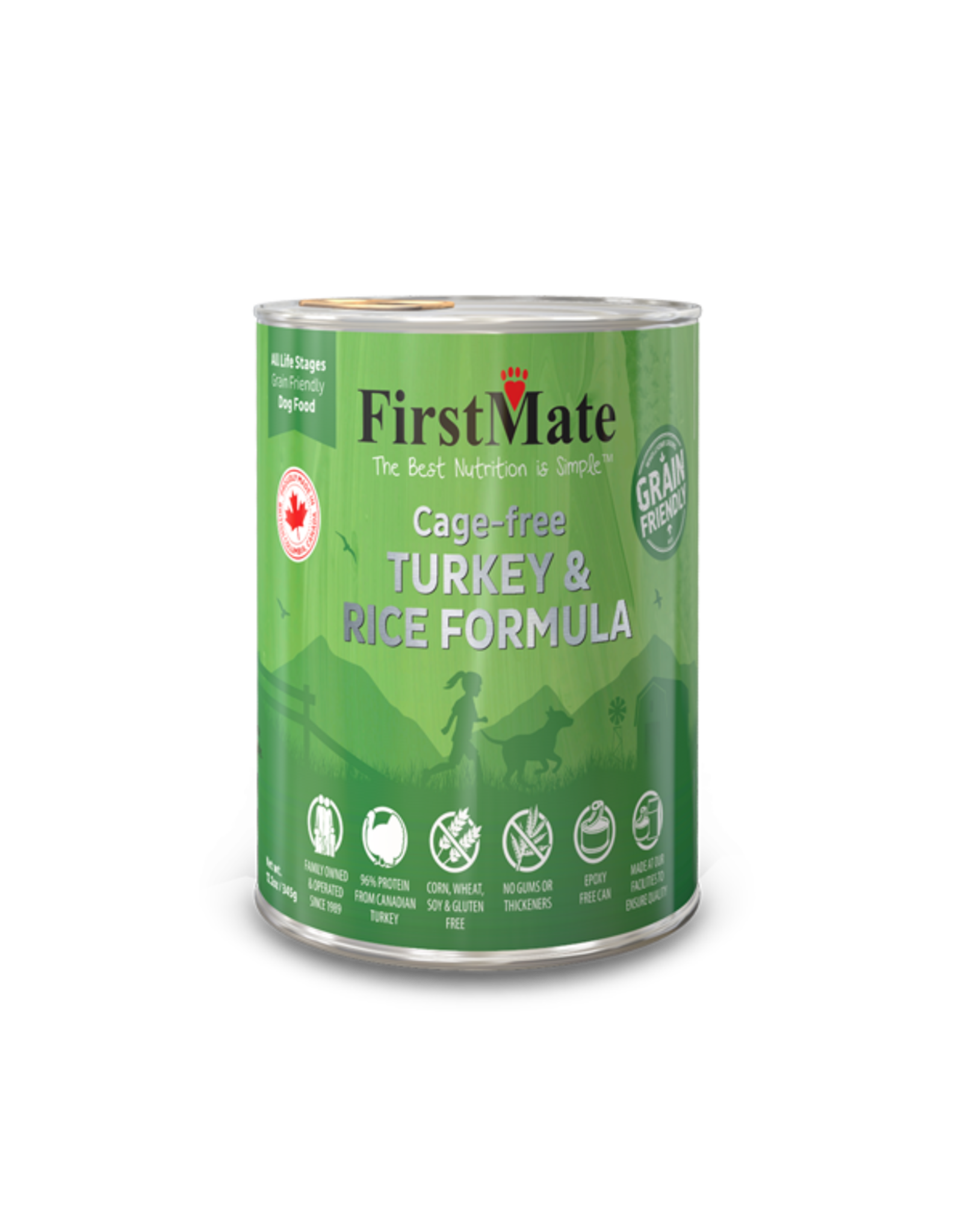 First Mate First Mate Dog Turkey and Rice 12.2oz