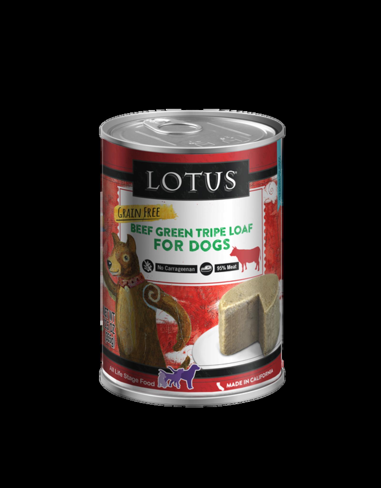Lotus Pet Food Lotus Dog Green Tripe 12.5oz