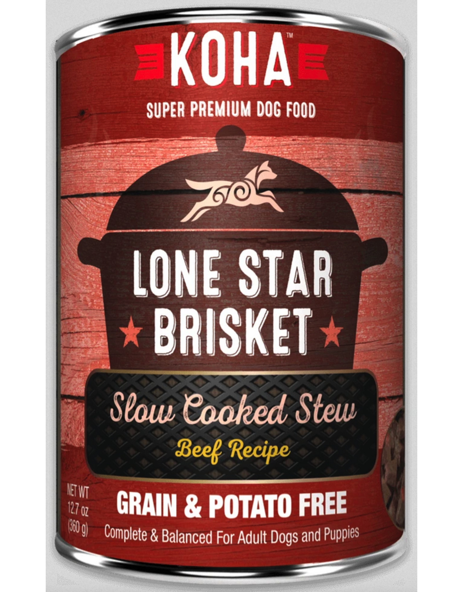 Koha Pet Koha Dog Lone Star Brisket 12.7oz
