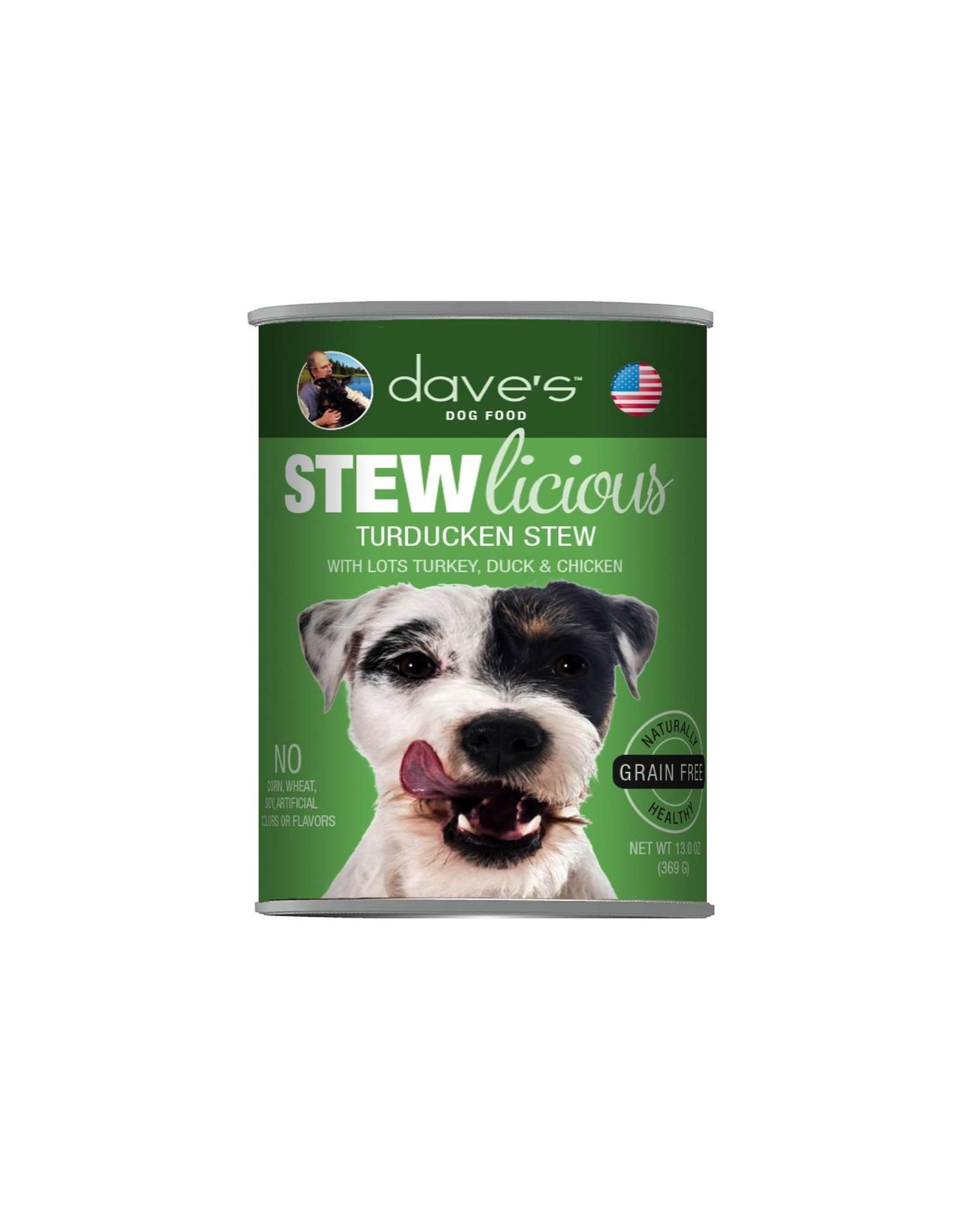 Dave's Pet Food Dave's Dog Stewlicious Turducken Stew 13oz