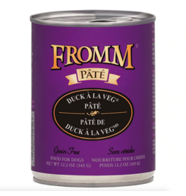 Fromm Family Foods Fromm Dog Duck A La Veg Pate 12.2oz