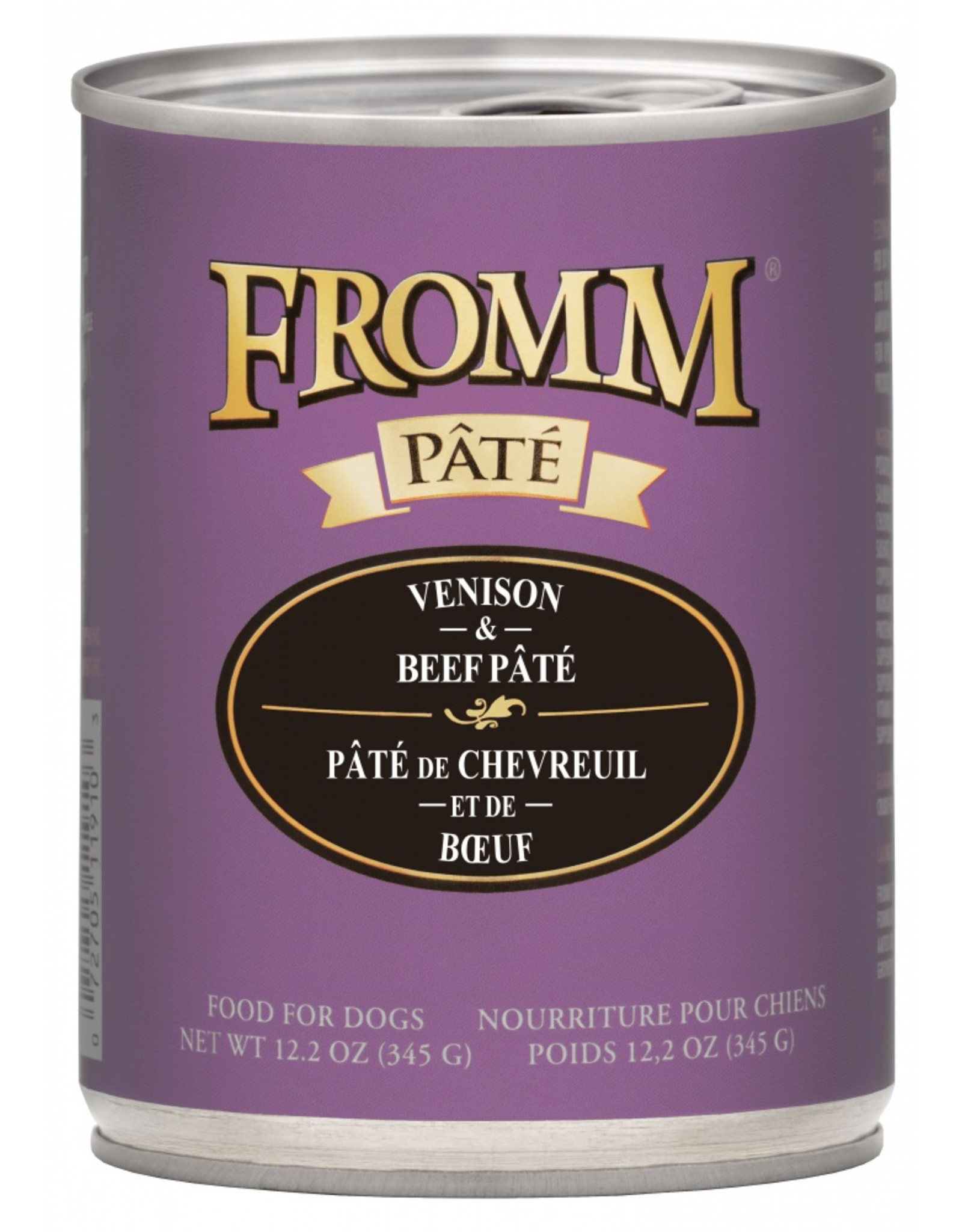 Fromm Family Foods Fromm Dog Venison and Beef Pate 12.2oz