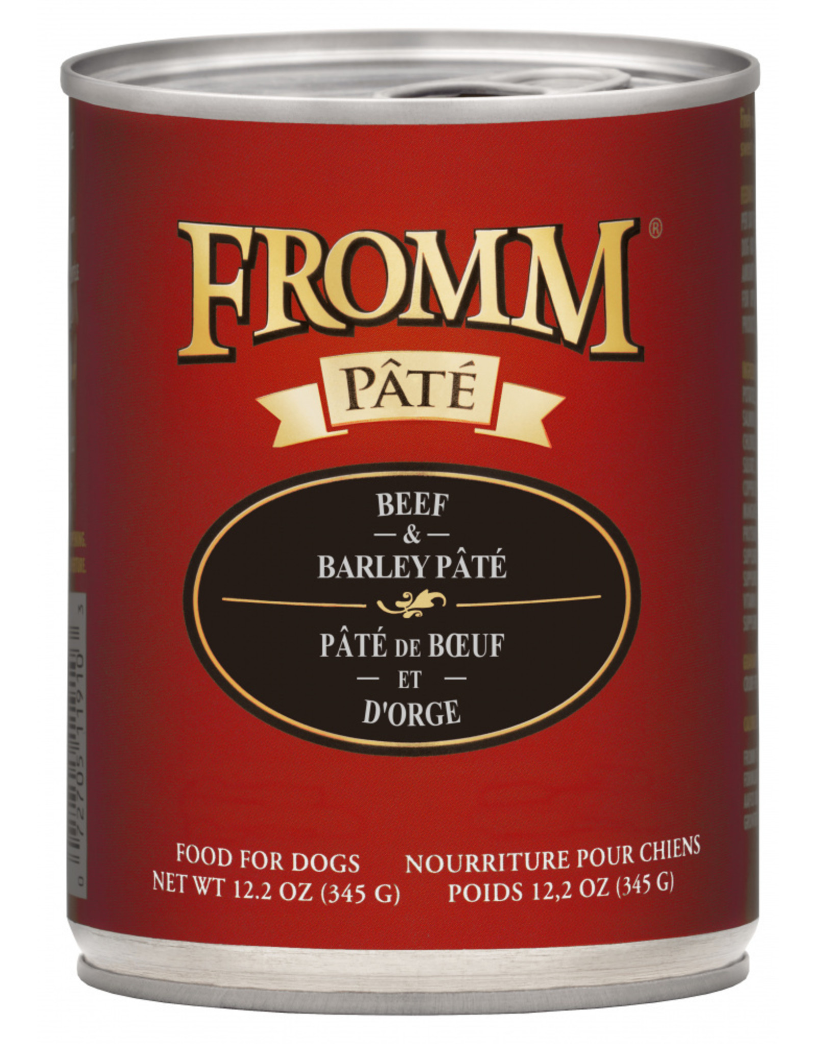 Fromm Family Foods Fromm Dog Beef and Barley Pate 12.2oz