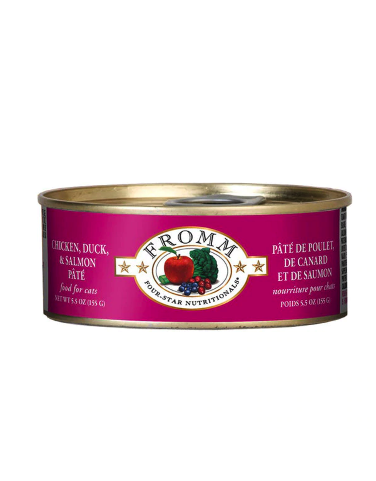 Fromm Family Foods Fromm Cat Chicken Duck and Salmon Pate 5.5oz