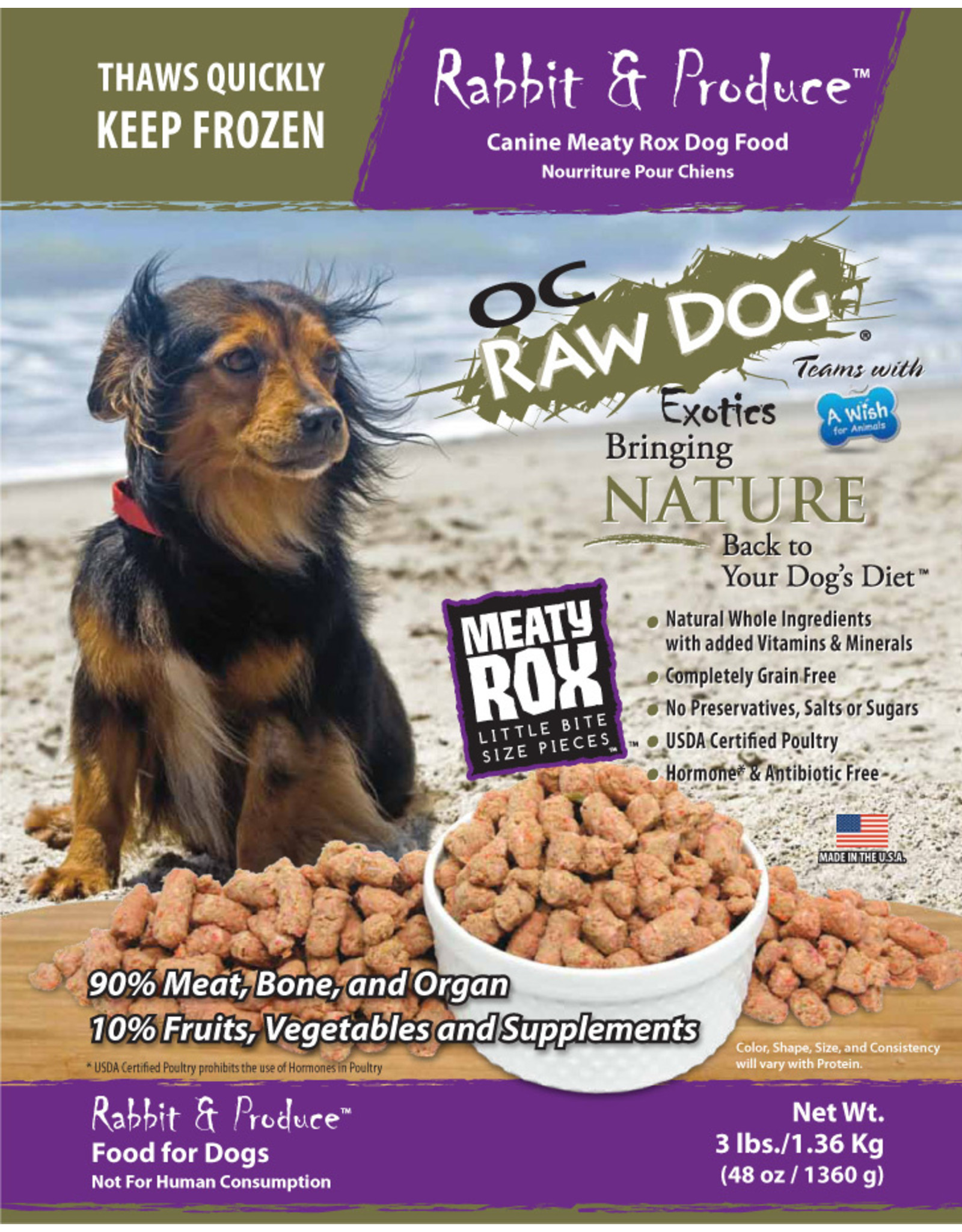 OC Raw Dog OC Raw Dog Rabbit and Produce Rox 3lb
