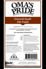 Oma's Pride Oma's Pride Ground Quail Frames 2lb