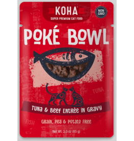 Koha Pet Koha Cat Poke Bowl Tuna Beef Pouch 3oz