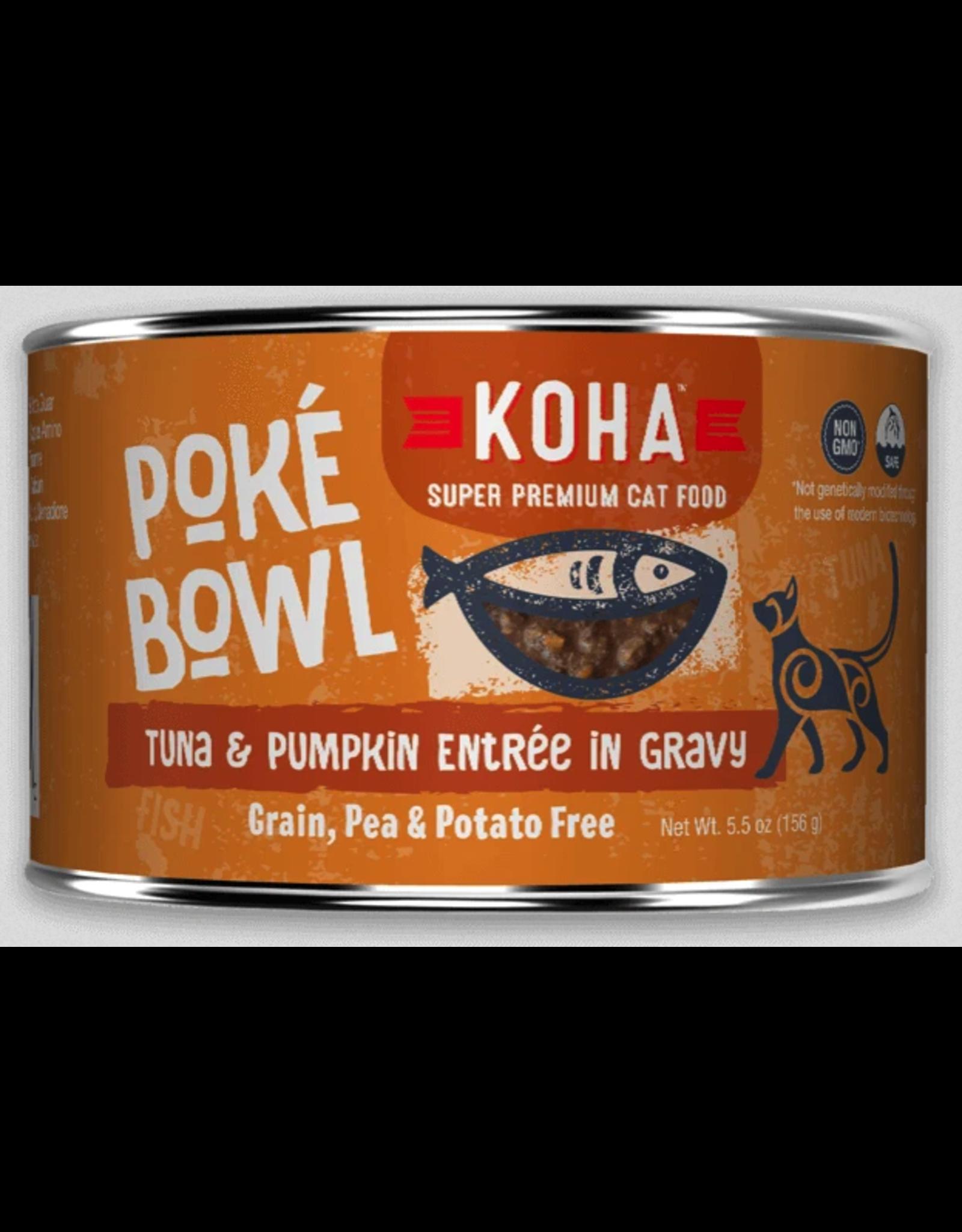 Koha Pet Koha Cat Poke Bowl Tuna Pumpkin Can 5.5oz