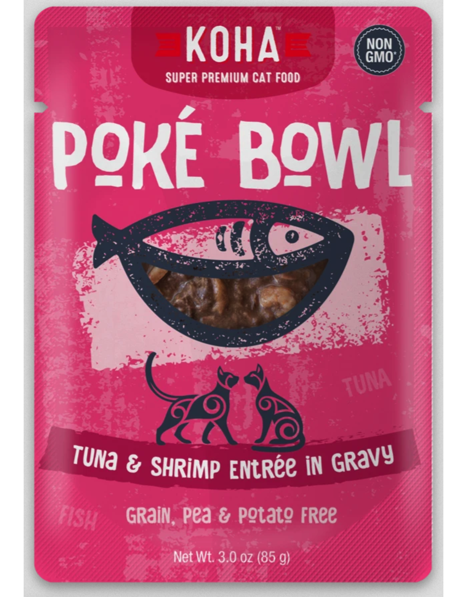 Koha Pet Koha Cat Poke Bowl Tuna Shrimp Pouch 3oz
