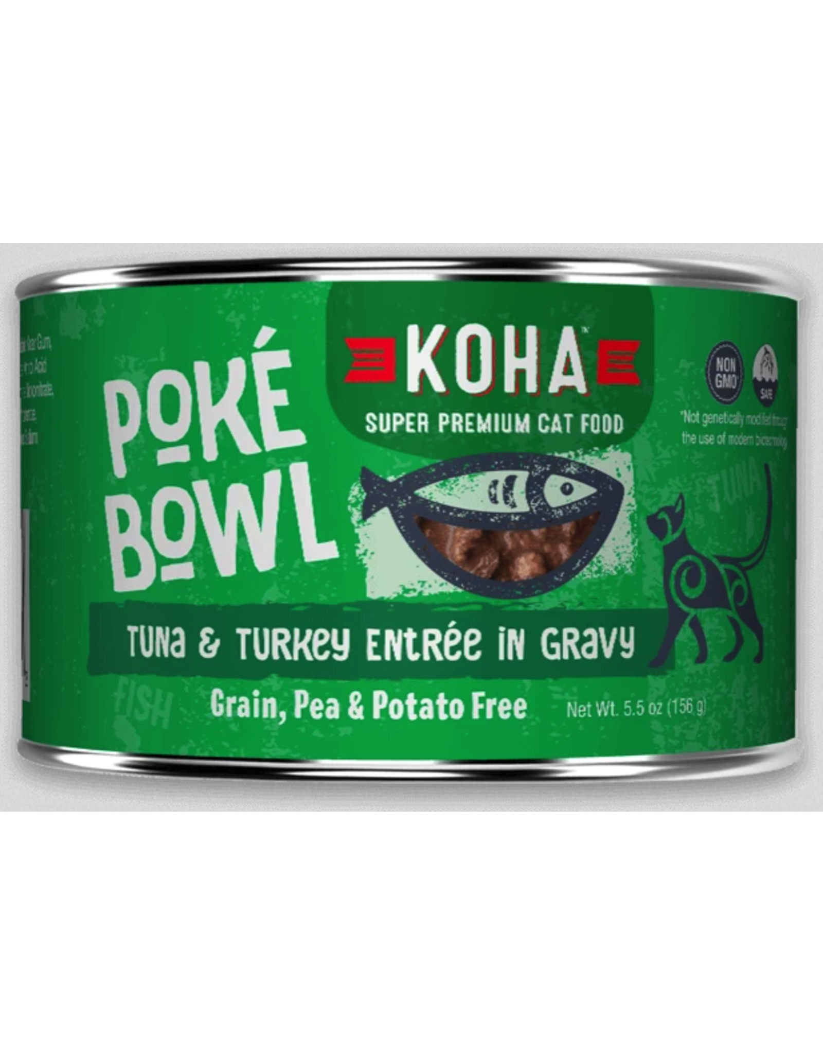 Koha Pet Koha Cat Poke Bowl Tuna Turkey Can 5.5oz