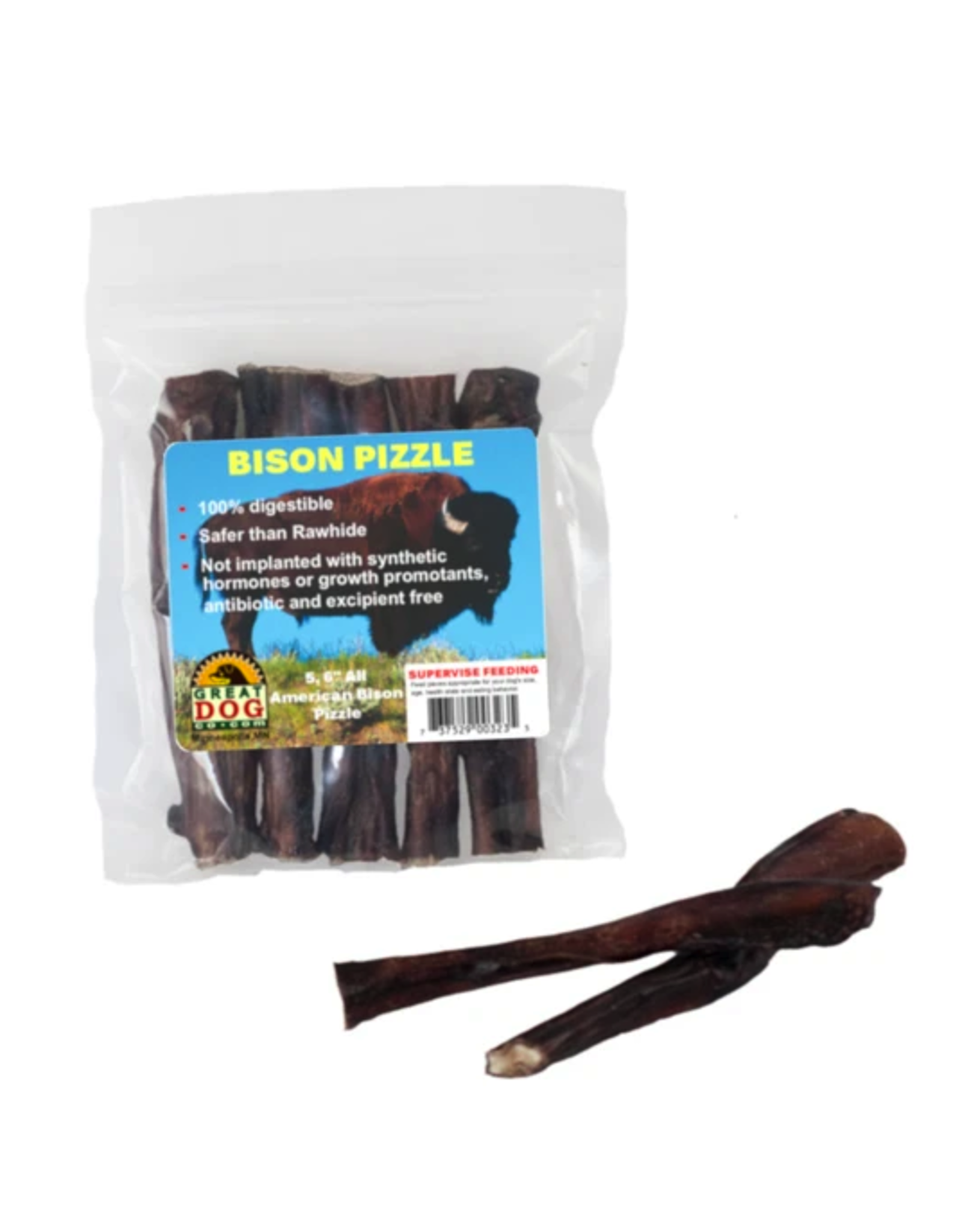 Great Dog Co Great Dog Co Bison Pizzle Stick 6""