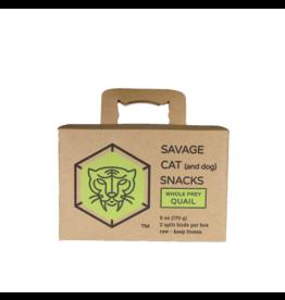 Savage Cat Savage Cat Split Quail 6oz 4ct