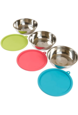 Messy Mutts Messy Mutts Bowls with Lids Medium Set of 3