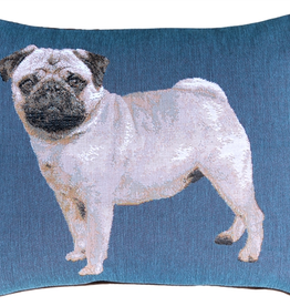 Pillow Decor 15x19 Pug French Tapestry Throw Pillow