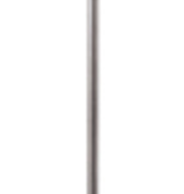 Visual Comfort VC Bryant Floor Lamp in Antique Silver with Natural Paper Shade