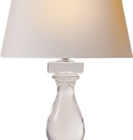 Visual Comfort Balustrade Table Lamp in Crystal with Natural Paper Shade