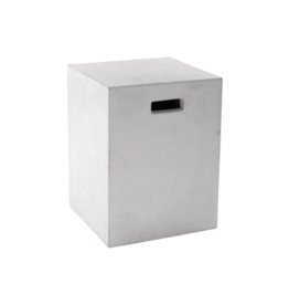 Castor End Table, White<br /> 13.75x13.75 x18