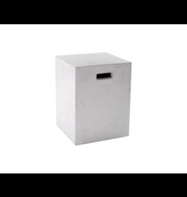 Sun Pan Castor End Table, White<br /> 13.75x13.75 x18